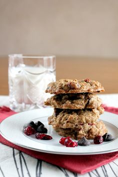 cherry chocolate chunk oatmeal cookies by pastryaffair, via Flickr