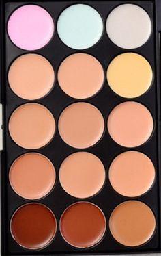 15 Colors Foundation Palette PLUS 7 Pcs Makeup Brushes For High Quality Concealer Contour # 22199