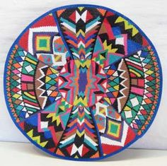 Africa | Ntombifuthi Magwaza, Telephone wire basket. South Africa. Wire Weaving, Basket Weaving, African Crafts, Africa Art, African Tribes, African American Art, Wire Baskets, African Design, Mandala Art