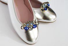 Как просто превратить балетки в вечернюю обувь?! Зеркальные балетки от Wedindiy cо съемными клипсами Azure...