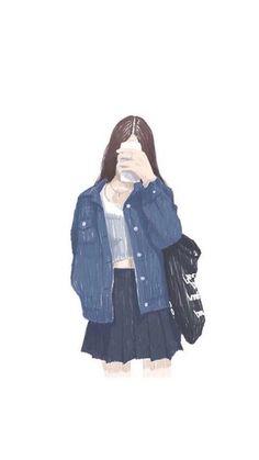 Read Fan Art girl from the story Wallpaper Iphone Cute, Girl Wallpaper, Animes Wallpapers, Cute Wallpapers, Cover Wattpad, Tmblr Girl, Lovely Girl Image, Beautiful Anime Girl, Couple Art