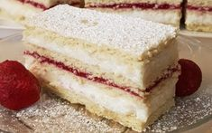 Epres, grízes, mézes süti - Hiszed.Com Izu, Vanilla Cake, Addiction, Baking, Food, Bakken, Essen, Meals, Backen