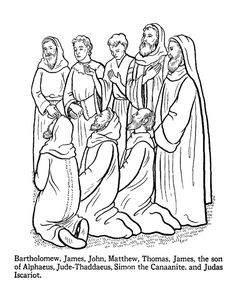 Apostles Coloring Pages Bible Printables