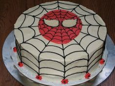 Fondant Birthday Cakes For Beginners   Cake Place: Spiderman Birthday Cake