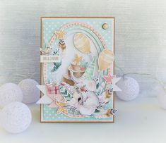 fikcjajestmodna: Kartka ze słonikiem Baby Scrapbook, Scrapbook Albums, Scrapbooking, 2nd Birthday, Birthday Cards, Baby Barn, Mixed Media Cards, Shabby Chic Cards, Baby Album