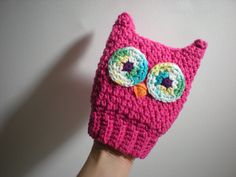 PATTERN:  Scrubba Dubba Owl- Easy Crochet Children's Bath Mitt, Kids Washcloth, Crochet Cotton, PDF, Permission to Sell. $4.99, via Etsy.