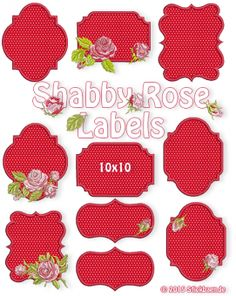 Shabby Rose labels - Shabby Rose Labels or What do you like most? Printable Labels, Printables, Label Machine, Shabby, Rose Buds, Baroque, 4x4, Machine Embroidery, Hello Kitty
