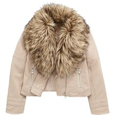 V By Very Girls Suede Effect Biker Jacket With Faux Fur Collar ($42) ❤ liked on Polyvore featuring outerwear, jackets, moto biker jacket, suede moto jacket, vintage jackets, vintage motorcycle jacket and brown motorcycle jacket