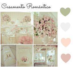 Paleta de cores - casamento romântico