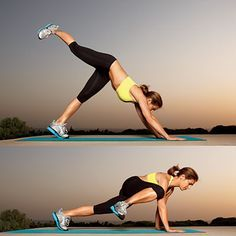 Jillian Michaels demos one of the toughest moves we've ever tried for OBLIQUES: the leg kick into single leg pike press. How many can you do? | health.com