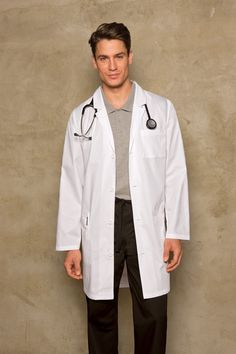 Med Couture Scrubs 38inch length Lab Coat for men by Peaches