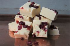 Classic white choc & cranberry fudge from The copper Pot Fudge Kitchen. Delicious and so smooth & creamy!! All handmade and crafted in beautiful Wales. From £3.25.