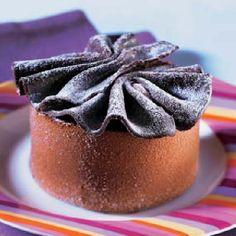 Flan helado de chocolate y café