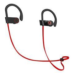 Bluetooth Earbuds Latest CSR 41 Wireless Technology Stereo Sound BuiltIn Microphone IPX4 WaterResistant Headphones for Active Lifestyles by ICONNTECHS IT *** Click on the image for additional details.