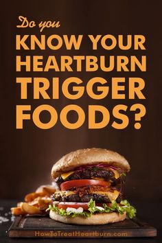 There are foods and drinks that can cause heartburn in the majority of people. These foods are considered to be general heartburn triggers. Do you know which foods are causing your acid reflux symptoms and heartburn symptoms? A proper GERD diet removes th How To Treat Heartburn, Foods For Heartburn, Treatment For Heartburn, Heartburn Symptoms, Reflux Symptoms, Heartburn Relief, Chronic Heartburn, Social Media