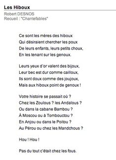 Poésie Les Hiboux Robert Desnos : poésie, hiboux, robert, desnos, Poèmes, Enfnts, Ideas, French, Poems,, Teaching, French,, Language