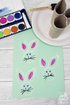 How to make a Recycled Toilet Roll Easter Bunny Stamp. This simple kids activity is perfect for Easter or Spring. A fun DIY Kids Craft and art activity Crafts For Kids To Make, Easter Crafts For Kids, Crafts For Teens, Diy And Crafts, Arts And Crafts, Easter Ideas, Easter Stuff, Recycled Crafts, Kids Diy