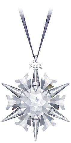 2002 Snowflake - Got it! Swarovski Christmas Ornaments, Swarovski Snowflake, Crystal Snowflakes, Snowflake Ornaments, Christmas Snowflakes, Swarovski Crystals, Crystal Collection, Jewelery, Christmas Decorations