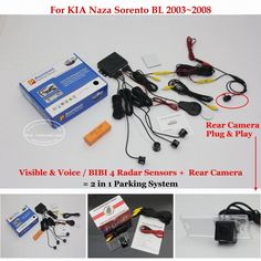 58.61$  Watch now - http://alir5n.worldwells.pw/go.php?t=32752614654 - For KIA Naza Sorento BL 2003~2008 - Car Parking Sensors + Rear View Back Up Camera = 2 in 1 Visual / BIBI Alarm Parking System 58.61$