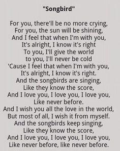 My Very Sweet Most Favorite Song By Fleetwood Mac SongbirdFor Freebird