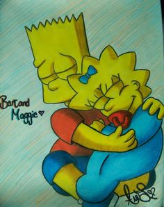 Awwww!!!! That picture of Bart and Maggie is so adorable! I love it!