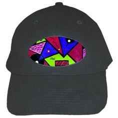 Modern Art Black Baseball Cap Black Cap