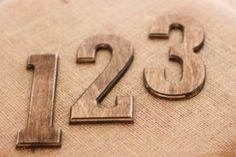 Wooden Table Numbers Wedding by Isla Grey Designs