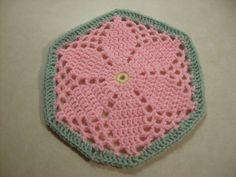 Scrap Yarn Crochet: Free Granny's Garden Hexagon Crochet Pattern