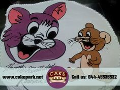 Tom & Jerry #Delicious #cakes for #Kids birthday party. Order #cakes online in #Chennai and #Bangalore Visit us: www.cakepark.net Call us: 044-45535532