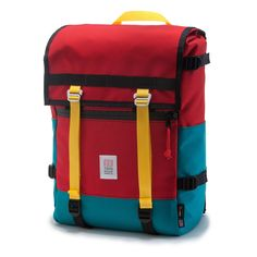 Topo Designs Flap Pack Red Weatherproof Commuter