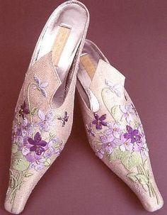 Basia Zarzycka's embroided shoes