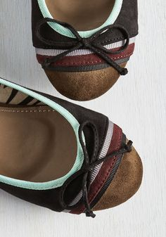 Lead the way toward mirth and merriment in these black ballet flats! Inspiring vivacious vibes with their decorative bow and colorful combination of black, mint, burgundy, grey, and mocha hues - some with a grosgrain texture - this vegan faux-suede pair aims to provide pleasant times wherever you roam.
