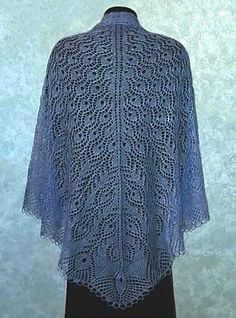 Peacock Knitting Pattern | Peacock Feathers Shawl by Dorothy Siemens. Love it, but would make it ...