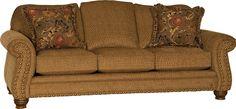Mayo Furniture 7890F Fabric Sofa - Macy Chestnut