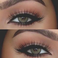 For beautiful green eyes #biglashes #eyemakeup #naturallook