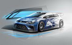 Scarica sfondi Volkswagen Polo R WRC, 2017 automobili, arte, Campionato del Mondo Rally, WRC