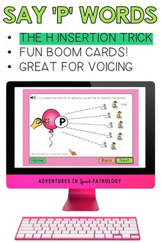 Have you ever tried the 'h' insertion trick for when students voice their 'p' sound? Use visuals and cues to get the 'p' sound in words? Try the H insertion trick with your speech students and this fun Boom Card deck. Great for distance learning and teletherapy. Articulation Therapy, Speech Therapy Activities, Card Deck, Deck Of Cards, Childhood Apraxia Of Speech, Phonological Processes, Student Voice, P Words, Speech Delay