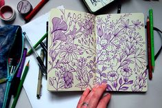 Anna Aniskina Sketchbook pages on Behance