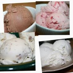 Quick and Easy Vanilla, Butter Pecan, Chocolate and Strawberry Ice Cream all made in my Cuisinart Ice Cream Maker.