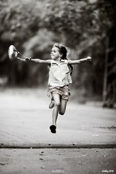 I just love this photo, it shows the essence of a happy childhood. I was so lucky. Beautiful Children, Beautiful People, Jumping For Joy, Pablo Picasso, Little People, Belle Photo, Black And White Photography, Cute Kids, Vintage Photos