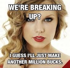 she does make most of her songs about her exes. lol