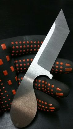 #NightTurtleKnives NightTurtleKnives.etsy.com Commissioned Tanto Style Belt Knife. O1 Tool Steel.