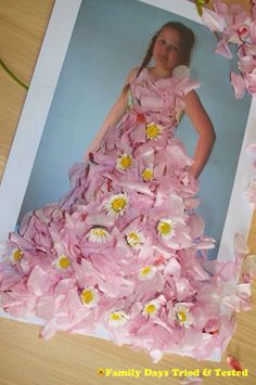 BLOSSOM FASHION ART | familydaystriedandtested's Blog - what a creative idea for fashion design!