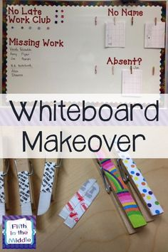 Command strips and your Silhouette can turn your walls and whiteboards into an organized area.