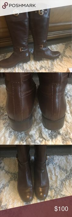 Micheal Kors Riding Boots In excellent condition only worn twice. No scuffs or marks. Michael Kors Shoes Winter & Rain Boots