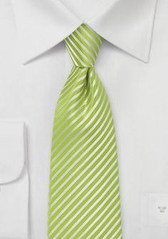 Krawatte abgestuft streifengemustert edelgrün
