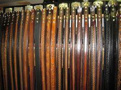 Rack of Gavere Leather Belts Leather Belts