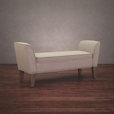 Drake Beige Linen Reclaimed Finish Bench | Overstock.com Shopping - Great Deals on Benches