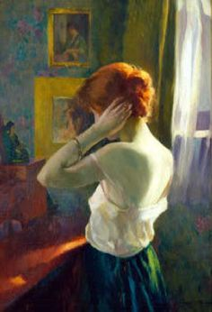 Ivan Olinsky (1878 – 1962), Red-Headed Woman