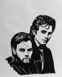 Obi-Wan Kenobi and Anakin Skywalker Star Wars  #starwars #obiwankenobi  #anakinskywalker #starwarsfanart